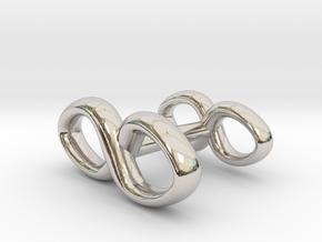 Infinity Symbol Cufflink in Rhodium Plated Brass