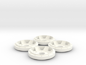 Gotti X13 Rim Star Scale 1:8 (1 set = 4 pieces) in White Processed Versatile Plastic
