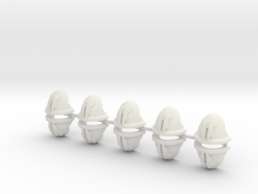 10 Twin Blade Shoulder Pads in White Natural Versatile Plastic