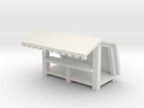 Mittelalter Bude 2 - 1:220 (Z scale) in White Natural Versatile Plastic