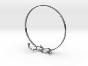 Serotonin Bracelet 65 Mm Embossed in Fine Detail Polished Silver