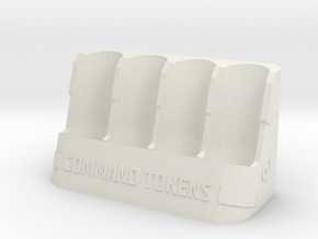Command Tokens Vertical in White Natural Versatile Plastic