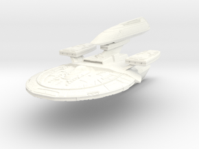 Ultra Class Refit Hvy Gun Destroyer in White Processed Versatile Plastic