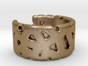 Bracelet Ø69 mm/Ø 2.71 inch in Polished Gold Steel
