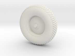 09A-LRV - Front Right Wheel in White Natural Versatile Plastic