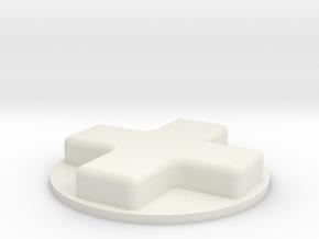 dpad in White Natural Versatile Plastic
