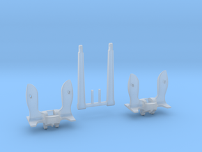 1/96 Anchors for Battleships (30,000 lbs.) in Smooth Fine Detail Plastic