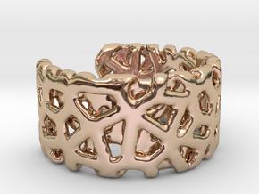 Bracelet Ø69 mm/Ø 2.71 inch in 14k Rose Gold Plated Brass