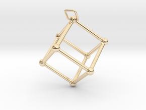 Thetaedron Pendant in 14K Yellow Gold