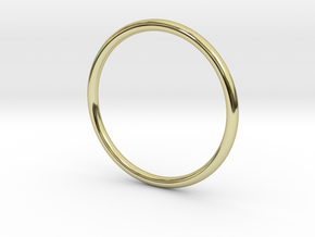 Jewellery - 1mm wire ring band in 18k Gold Plated Brass