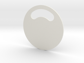 Dog`s Tagname in White Natural Versatile Plastic