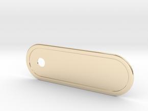 Custom Key Holder Nameplate Large in 14K Yellow Gold