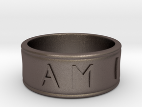 I AM | AM I Ring - size 7 in Polished Bronzed Silver Steel