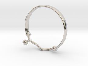 GABA ring size 8 in Rhodium Plated Brass