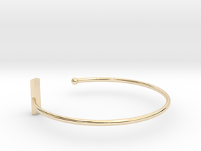Fine Bracelet Ø 63 Mm/2.48 inch R Medium in 14k Gold Plated Brass