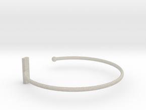 Fine Bracelet Ø 63 Mm/2.48 inch R Medium in Natural Sandstone
