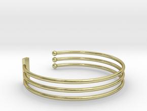 Tripple Bracelet Ø 63 Mm/2.48 inch R Medium in 18k Gold Plated Brass