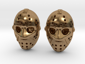 Jason Voorhees Mask lacelocks in Natural Brass