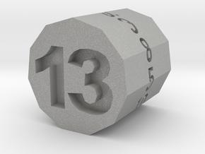 "d13 Hendecagonal Prism (""Unlucky Roller"") in Aluminum"