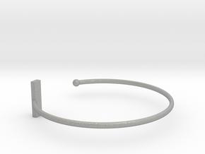 Fine Bracelet Ø 68 mm/2.677 inch R Large in Aluminum