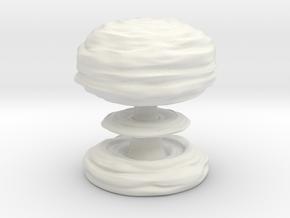 Huge Mushroom Cloud 30cm / 12in in White Natural Versatile Plastic