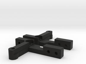Tamiya CC-01 rear axle 4 link conversion in Black Strong & Flexible