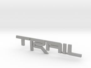 Trail Emblem - Single Print in Aluminum