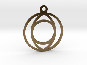 One. - Tribute to the Philosophy of Number in Polished Bronze