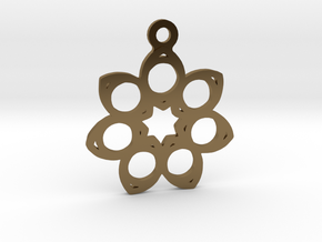 Seven. - Tribute to the Philosophy of Number in Polished Bronze