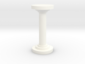 Sharp Round Pillar in White Processed Versatile Plastic