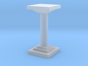 Pillar in Smooth Fine Detail Plastic
