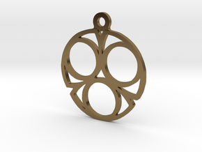 Three. - Tribute to the Philosophy of Number in Polished Bronze
