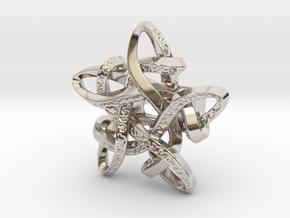 Celtic Star ring in Rhodium Plated Brass