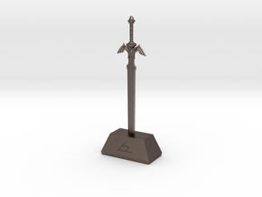 Mastah Sword  in Polished Bronzed Silver Steel