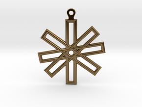 Sacred Geometry Earrings (Big) in Polished Bronze