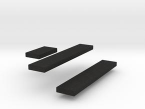 Amphicat seats 1/72nd scale in Black Acrylic