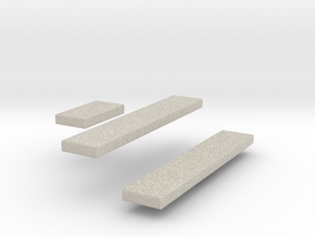 Amphicat seats 1/72nd scale in Natural Sandstone