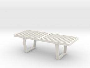 """1:24 Nelson Bench 48"""" in White Strong & Flexible"""