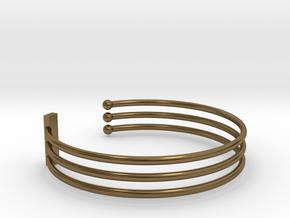 Tripple Bracelet Ø 58 mm/2.283 inch Small in Polished Bronze
