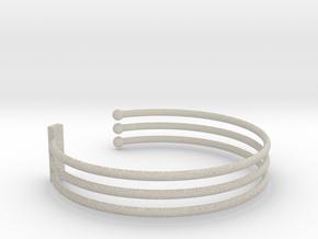 Tripple Bracelet Ø 68 mm/2.677 inch Large in Natural Sandstone