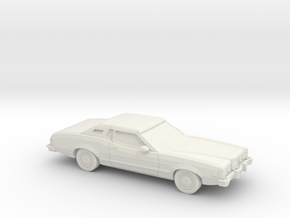 1/87 1974-76 Mercury Cougar in White Natural Versatile Plastic