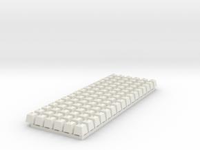 Sockel Rollenständer für Drahtzugleitung 96 Stück in White Natural Versatile Plastic