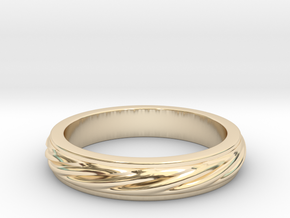 RING PENDANT in 14k Gold Plated Brass