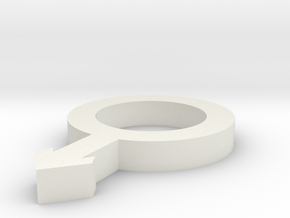 Symbol Male 4,6 x 3 x 0,5 inches in White Natural Versatile Plastic