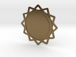 Custom Mandala Pendant 6 in Polished Bronze