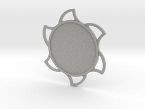 Custom Mandala Pendant Sun in Metallic Plastic