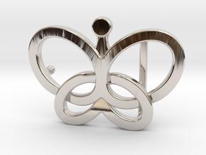 Custom Logo Belt Buckle in Rhodium Plated Brass