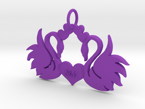 Creator Pendant in Purple Processed Versatile Plastic