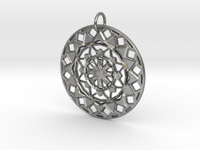 Mandala No. 5 in Raw Silver