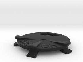 Pile Cap Laser Alignment Target in Black Natural Versatile Plastic
